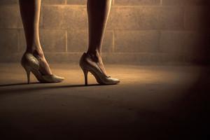 Legs on street